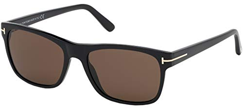 Sunglasses Tom Ford FT 0698 Giulio 01J Shiny Black/Brown Lenses