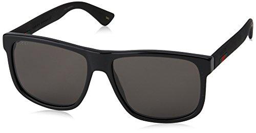 Gucci GG 0010 S- 001 BLACK/GREY Sunglasses, 58-16-145