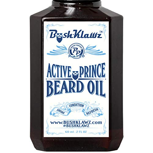 Active Prince Beard Oil Conditioner Premium Beard Moisturizer Refreshing Scent 2 oz - Best Leave in Conditioner Scented Beard Oil Gift Bearded Me