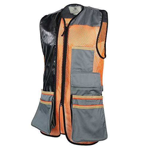 Beretta Men's Two Tone Shooting Vest – Breathable Bird Vest with Shooting Patch – Athletic Hunting Clay Skeet Shooter's Vest, Black Edition, S