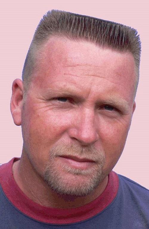 Landing Strip Short Haircut for Men