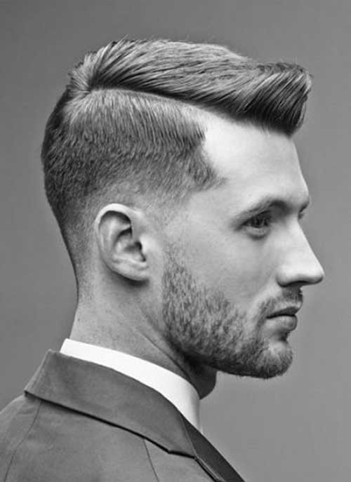 Side Part Pompadour Short Hair Mens Hairstyles