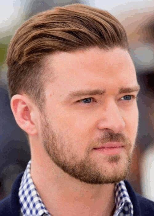 Tapered Haircut And Back Slicked Hairstyle