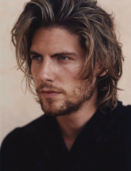 The Messy Cool Style long hairstyles for men