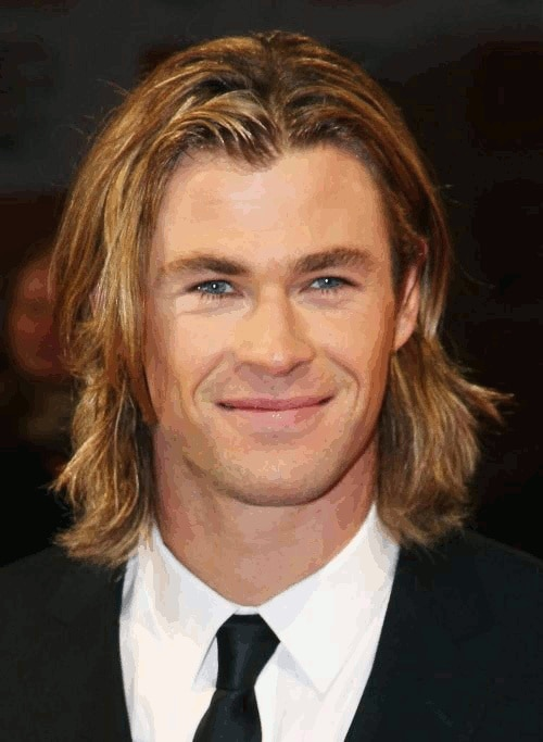 The Middle Part long hairstyles for men
