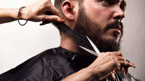 how to trim a beard with scissors