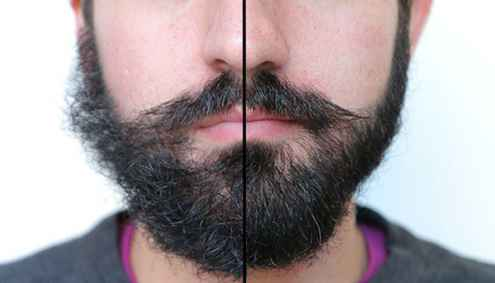 get rid of messy look by trimming goatee
