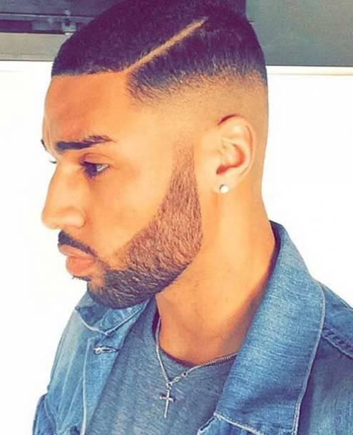 Faded Undercut black men short haircuts