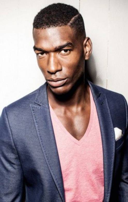 Low Side Parted Taper black men hairstyles 2015