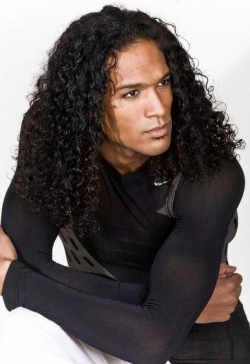 Medium-Length Curls black men hair styles