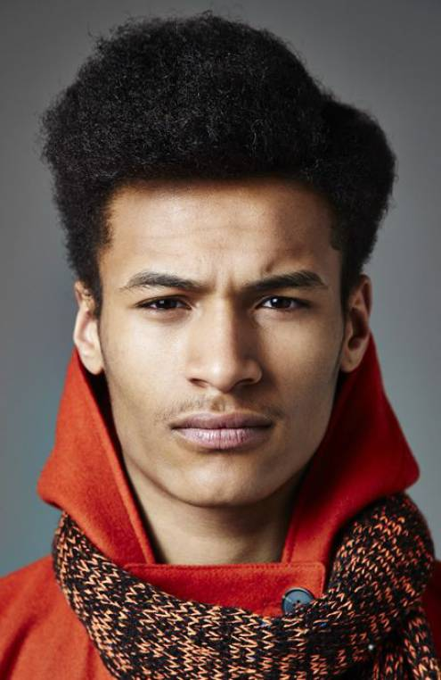 Natural Quiff hairstyle for black men with long hair