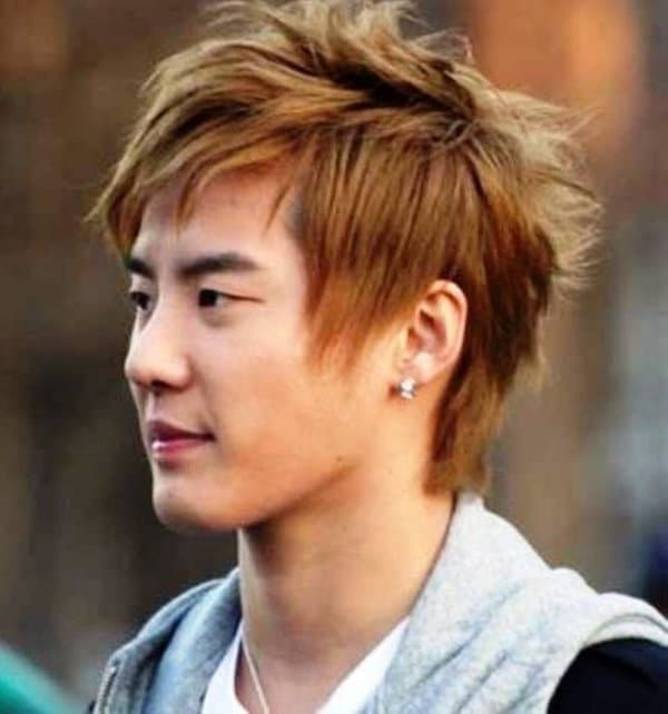beautiful Asian mens hairstyle
