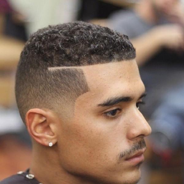 curly fade haircut men