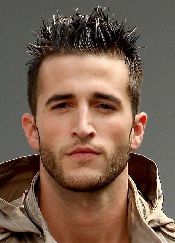 spikey stylish hairstyle men
