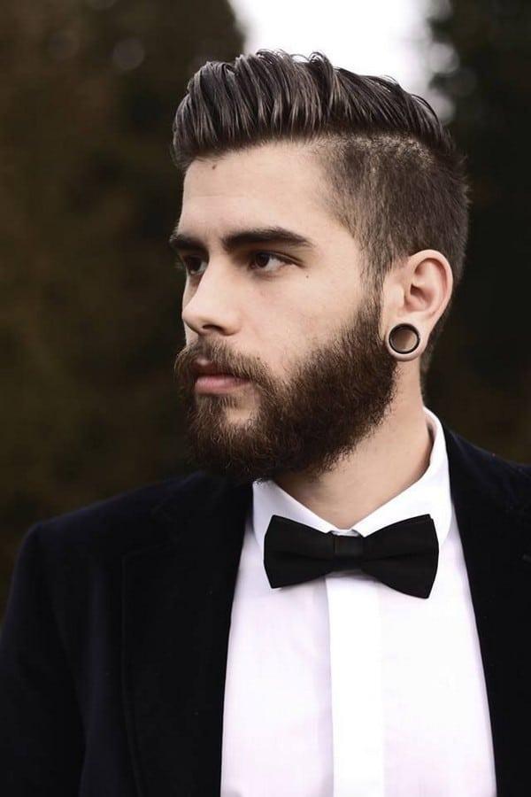 undercut hairstyle stylish pompadour
