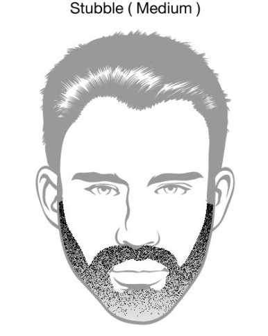 Medium Stubble Beard Styles