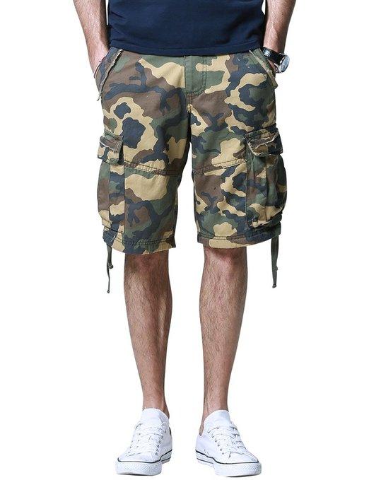 Match Mens Retro Cargo Shorts