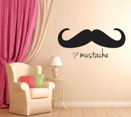 Cute Mustache Wallpaper For Walls