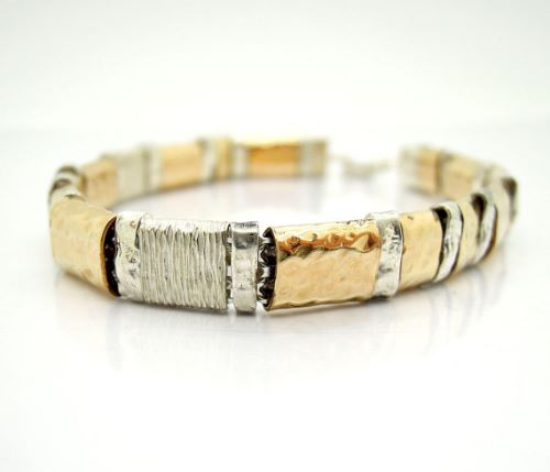 Gold And Sterling Silver Mens Bracelets