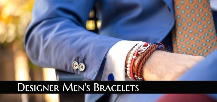 31 Designer Men's Bracelets in all Materials