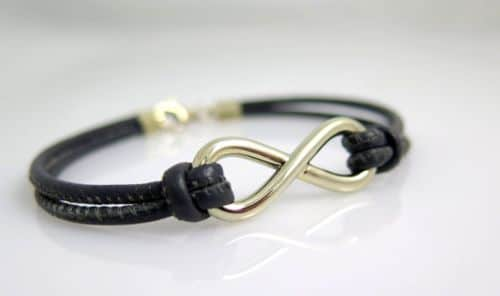 Mens Bracelets Leather And Gold