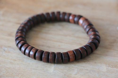 Mens Bracelets Wood Beads