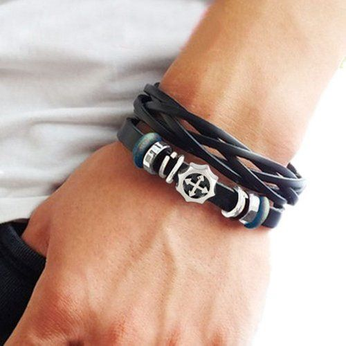 Mens Leather Bracelets With Beads