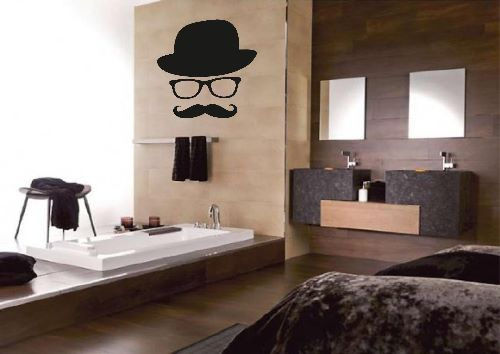 Mustache Bedroom Wallpapers Uk