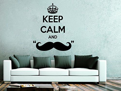 Mustache Wallpapers For Living Room Walls