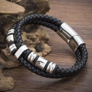 Unique Mens Braided Leather Bracelets