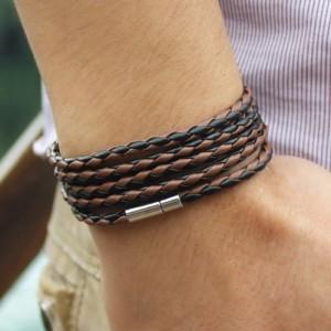 Unique Mens Leather Bracelet