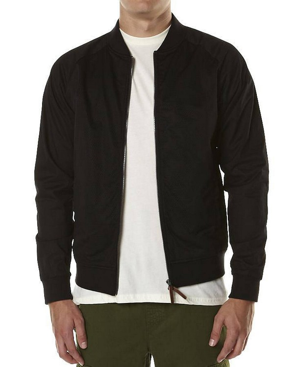Mens Bomber Jacket With Fur Collar