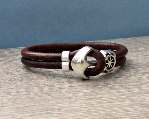 Bracelets Leather Engraved For Men