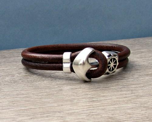 Bracelets Leather Engraved For Men