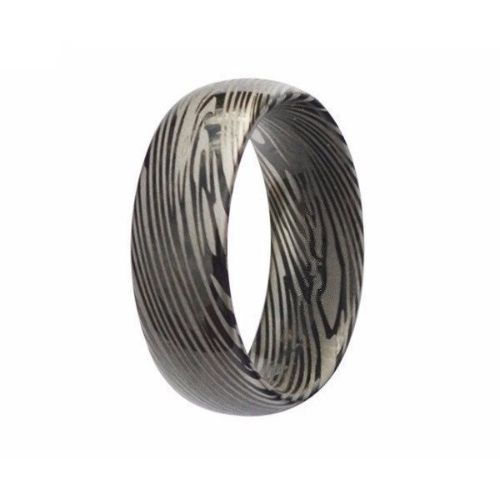Black Damascus Mens Rings