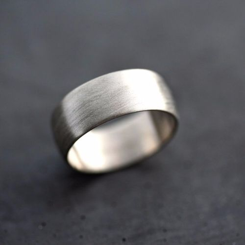Brushed Palladium Mens Rings