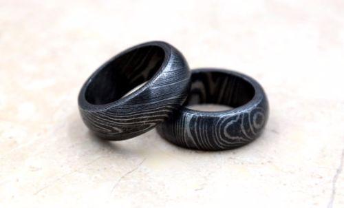 Cheap Damascus Steel Mens Rings