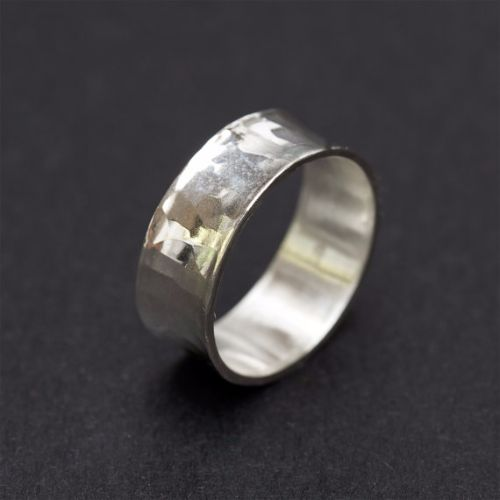 Hammered Mens Rings