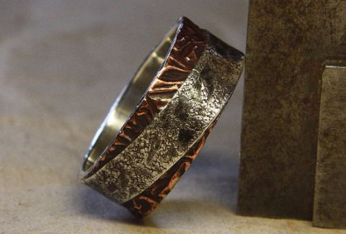 Mens Rings Silver Copper