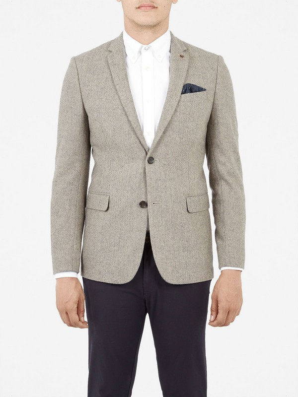 Ben Sherman Tweed Mens Blazer