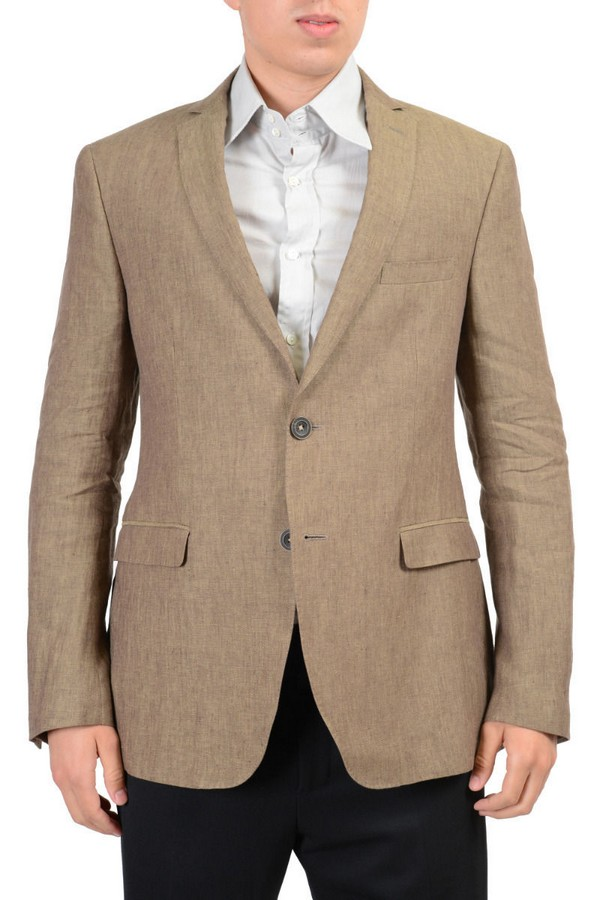 Etro Brown White Mens Blazer