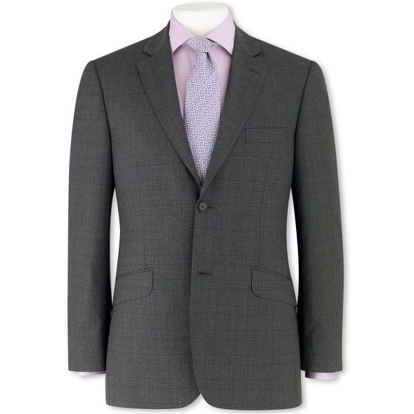 Grey Prince Of Wales Next Mens Blazer