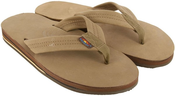 Rainbow Leather Mens Flip Flops Amazon