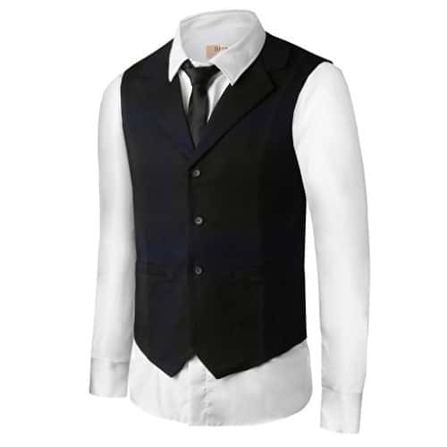Black Mens Vest