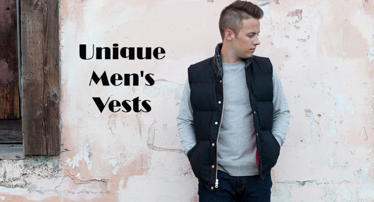 21 Unique Men's Vests Jackets [2018]