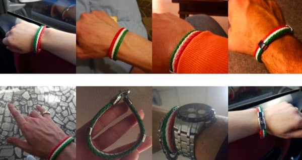 Italian Flag Leather Bracelet Satisfied Customer