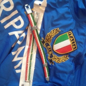 Italian Flag Mens Leather Bracelets