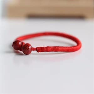 Buddhist Lucky Red String Bracelet