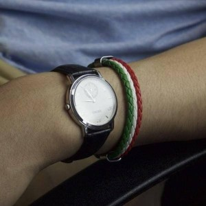 Italian Flag Leather Bracelet Charity Donation