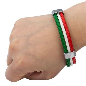 Italian Flag Leather Bracelet Online